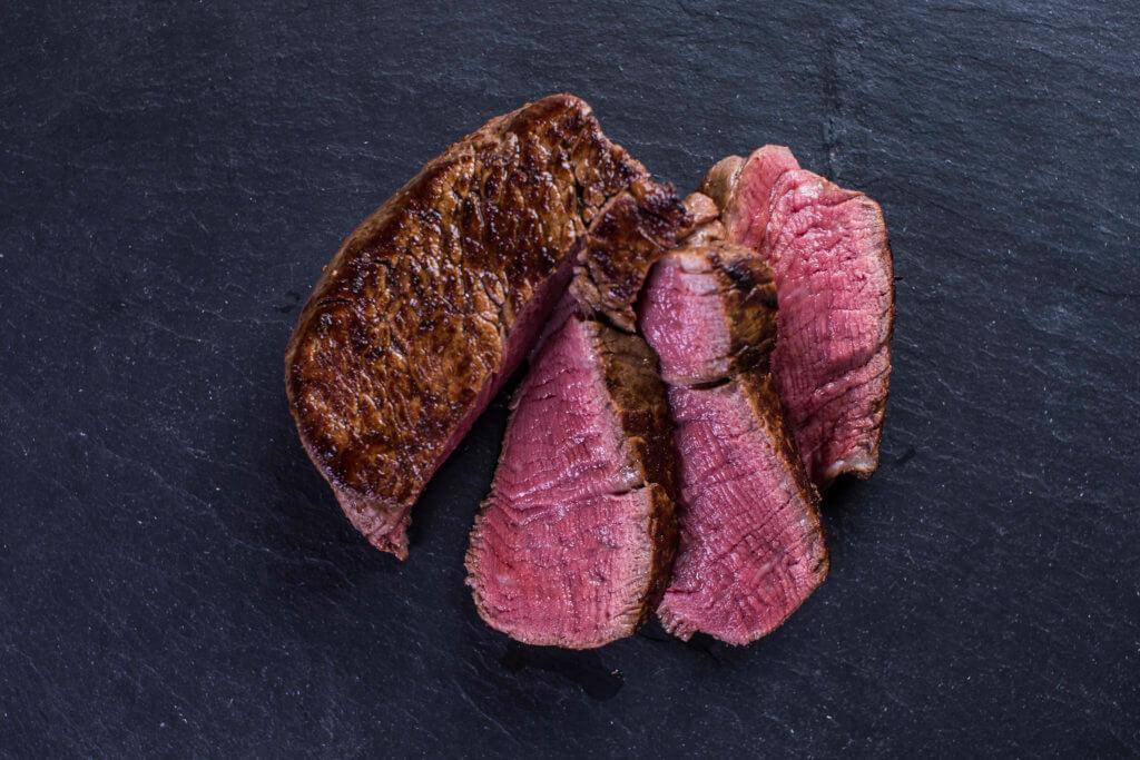 Steak gebraten aufgeschnitten