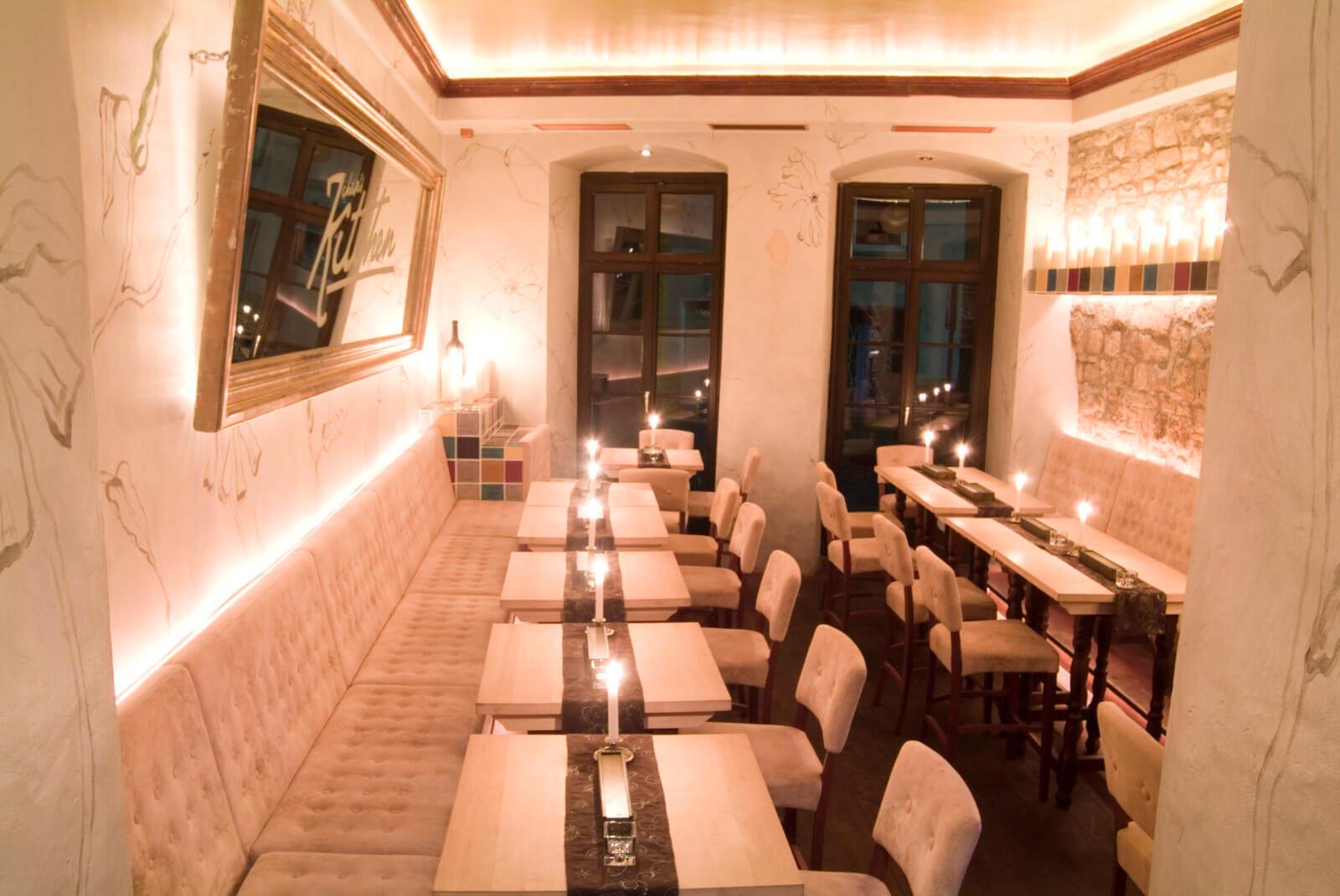 Restaurant Innenansicht Tische